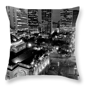 Sao Paulo Downtown - Viaduto Do Cha And Around Throw Pillow