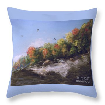 Soaring Over The North Rim, Autumn Throw Pillow