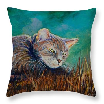 Saphira's Lawn Throw Pillow