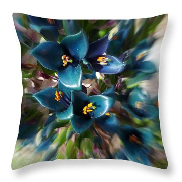 Saphire Tower Throw Pillow