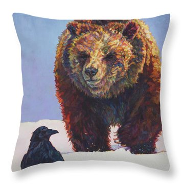 Sapphire And Garnet Throw Pillow