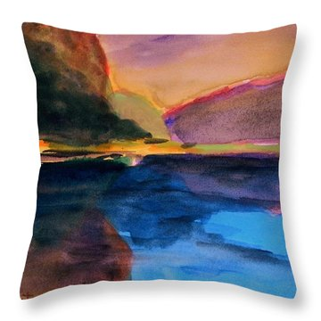 Sapphire Blue Water Throw Pillow by John Williams