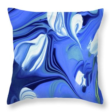 Sapphire Dreams Throw Pillow