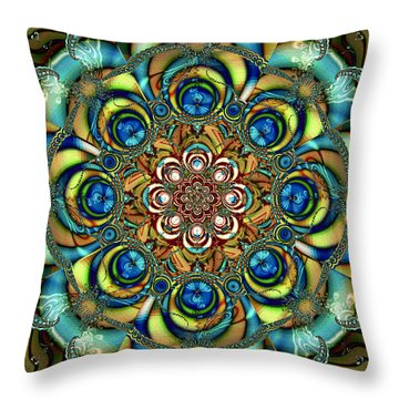 Sapphire Embroidery Throw Pillow