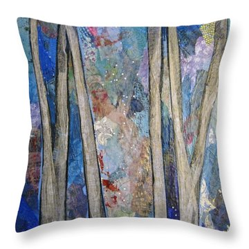 Sapphire Forest I Throw Pillow
