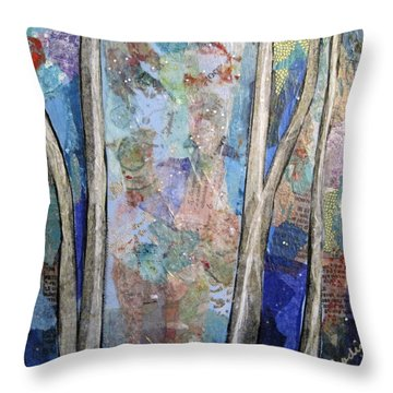 Sapphire Forest II Throw Pillow