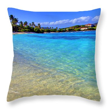 Sapphire Glow Throw Pillow