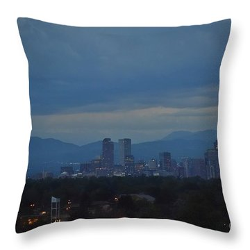 Sapphire Skies Throw Pillow