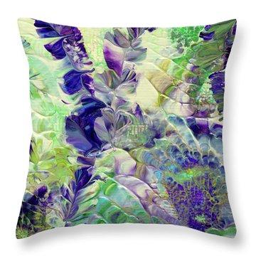 Sapphire Violet Throw Pillow