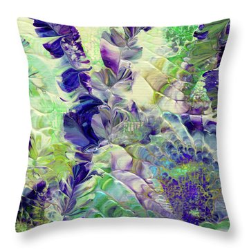 Sapphire Violet Throw Pillow