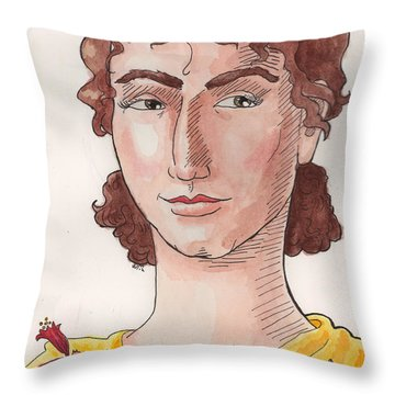 Sappho Throw Pillow