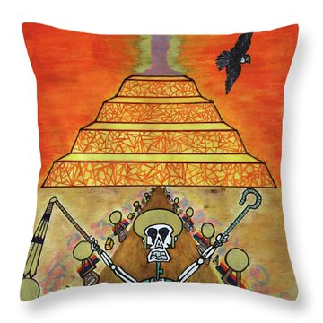 Saqqara Under Cooonstructiooon Throw Pillow