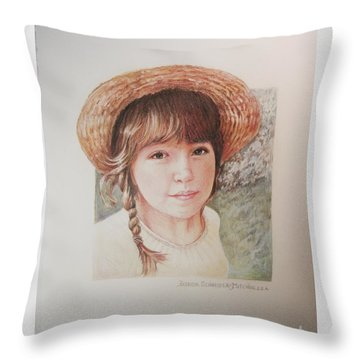 Sarah Throw Pillow by Patricia Schneider Mitchell