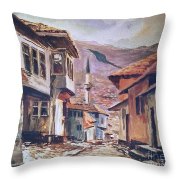Sarajevo Old Town Throw Pillow