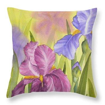 Sara's Garden Throw Pillow