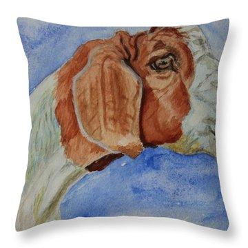 Sara's Goat Throw Pillow