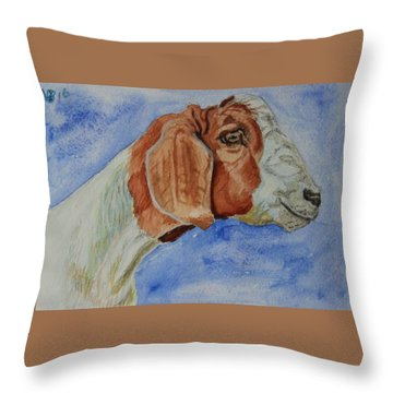 Sara's Goat Throw Pillow