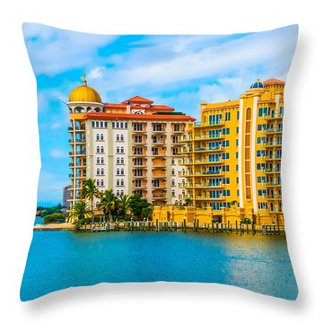 Sarasota Architecture Throw Pillow