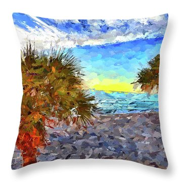 Throw Pillow featuring the photograph Sarasota Beach Florida by Joan Reese