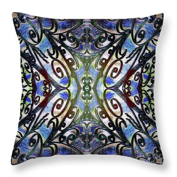 Sarasota Swirls Throw Pillow