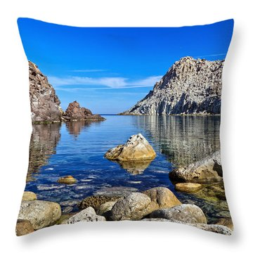 Sardinia - Calafico Bay  Throw Pillow