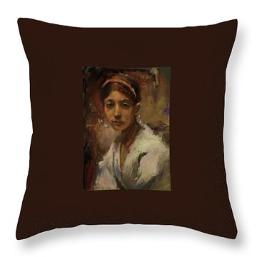 Sargent Study Number 1 Capri Girl Throw Pillow by Brian Kardell