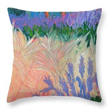 Sarris' Garden 7 Throw Pillow