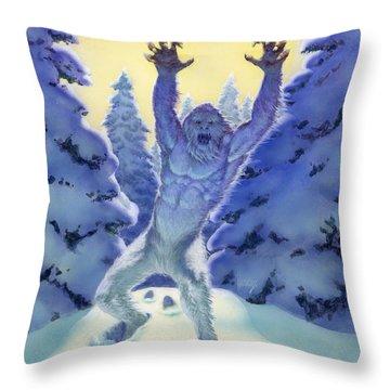 Abominable Snowman Throw Pillows