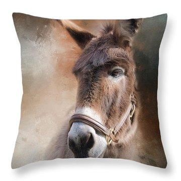 Throw Pillow featuring the photograph  Lil Sassafrass by Robin-Lee Vieira
