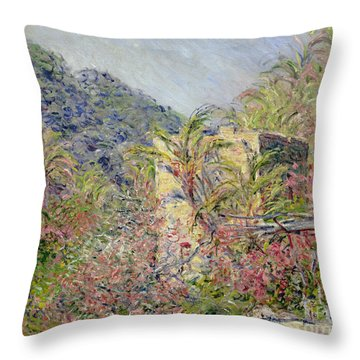 Sasso Valley Throw Pillow by Claude Monet