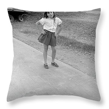Sassy Girl, 1971 Throw Pillow