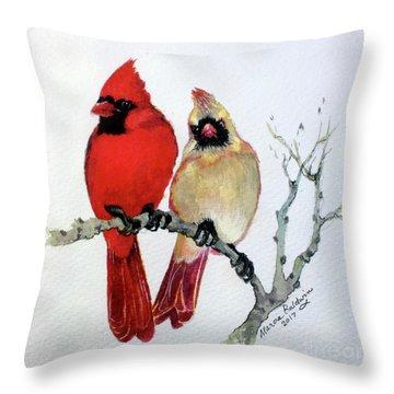 Sassy Pair Throw Pillow