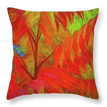 Throw Pillow featuring the digital art Sassyfras by Terry Cork
