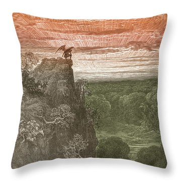 Satan, By Dore Throw Pillow by Photo Researchers