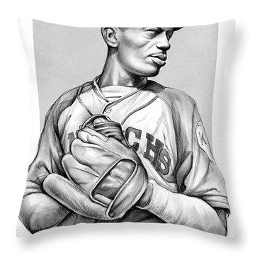 Satchel Paige Throw Pillow