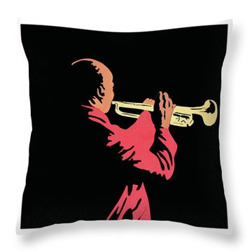 Satchmo Throw Pillow
