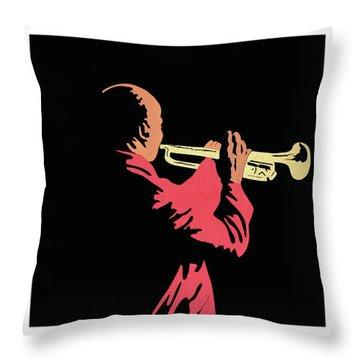 Satchmo Throw Pillow
