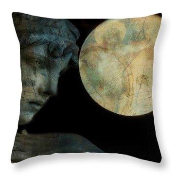 Love Statue Throw Pillows