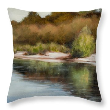 Satilla River Reflections Throw Pillow