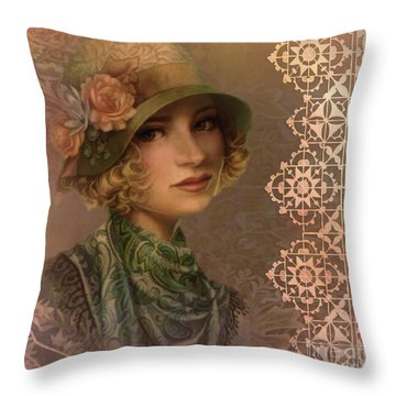 Satin And Lace 2016 Throw Pillow