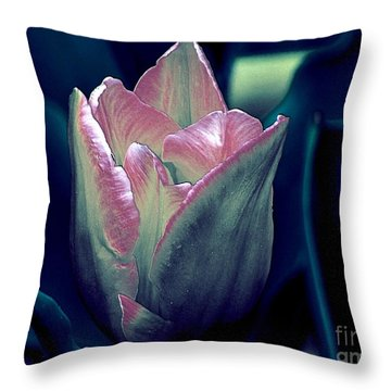 Throw Pillow featuring the photograph Satin by Elfriede Fulda