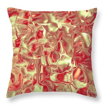 Satin Red Brown Throw Pillow by Cindy Lee Longhini