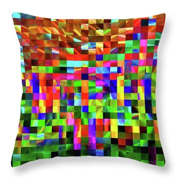 Satin Tiles Throw Pillow by Ludwig Keck