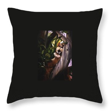 Throw Pillow featuring the painting Satisfied by Renate Nadi Wesley