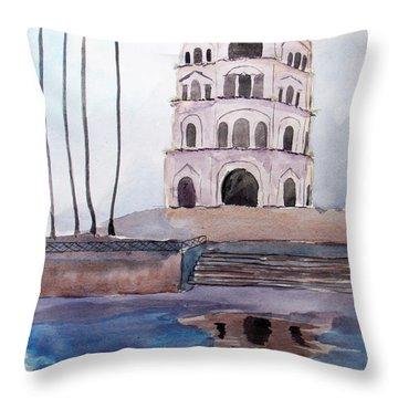 Satkhanda Lucknow Throw Pillow