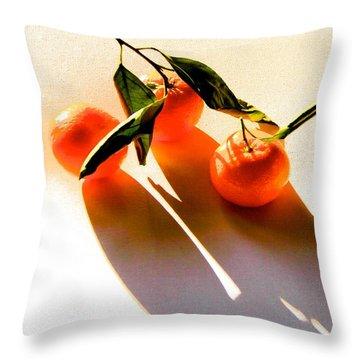 Satsumas Throw Pillow