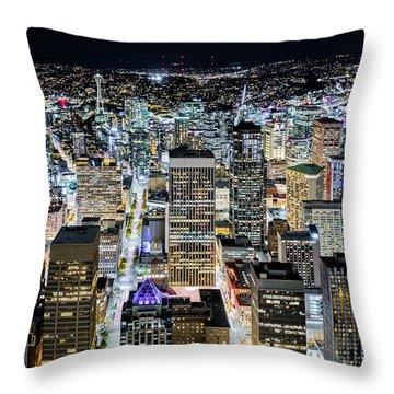 Seattle Lights Throw Pillow