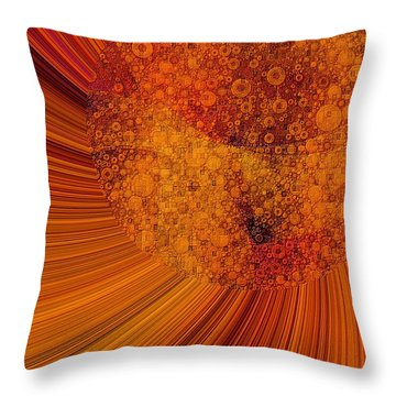 Saturated In Sun Rays Throw Pillow