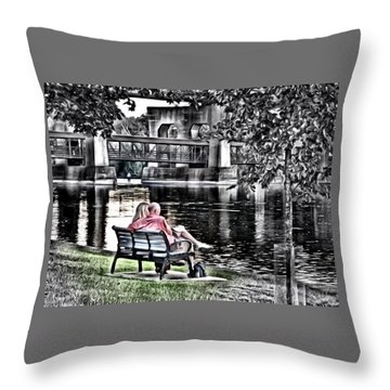 Saturday Afternoon Throw Pillow