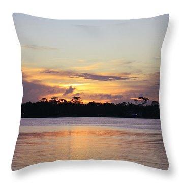 Saturday At Sundown Throw Pillow